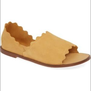 Klub Niko Scalloped Suede Sandals Size 10